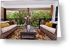Symmetrical Balcony Greeting Card