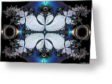 Symmetry In Circuitry Greeting Card