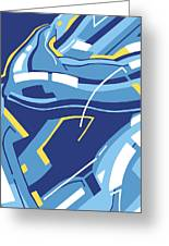Symphony In Blue - Movement 4 - 3 Greeting Card