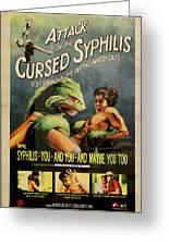 Syphilis Poster Greeting Card