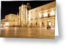 Syracuse, Sicily, Italy - Ortigia Downtown In Syracuse By Greeting Card