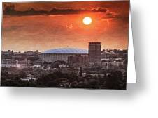 Syracuse Sunrise Over The Dome Greeting Card