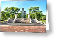 Syracuse University Hall Of Languages Greeting Card