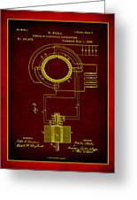 System Of Electrical Distribution Patent Drawing 2b Greeting Card