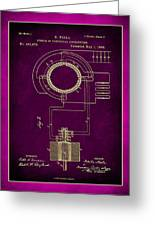 System Of Electrical Distribution Patent Drawing 2c Greeting Card
