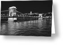 Szechenyi Chain Bridge Budapest Greeting Card