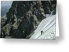 T-504102 1st Ascent On Mt. Shuksan Greeting Card