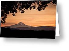 Mt. Hood At Sunset Greeting Card
