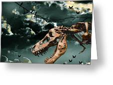 T-rex Graveyard Greeting Card