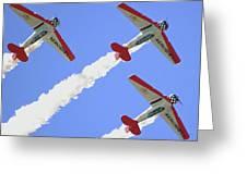 T6 Aerobatics Greeting Card