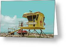 T7 Lifeguard Station Kapukaulua Beach Paia Maui Hawaii Greeting Card