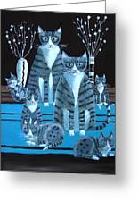 Tabby Family Greeting Card