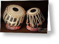 Tabla Musical Instrument Greeting Card