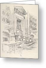 Table And Chair, Signers' Room, Independence Hall Greeting Card
