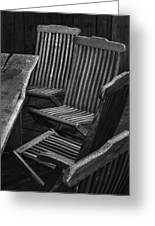 Table And Chairs Husavik Iceland 3767 Greeting Card