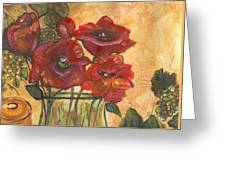 Table Flowers Greeting Card