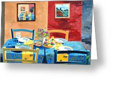 Table For Four Greeting Card