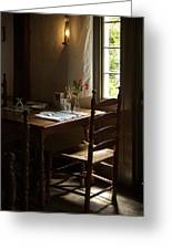 Table For Two Greeting Card by Lee Fortier