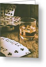 Table Games And The Wild West Saloon  Greeting Card