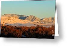 Table Mesa Winter Morning Greeting Card