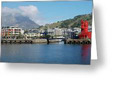 Table Mountain From The V And A Waterfront Quays Greeting Card