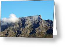 Table Mountain - Still Life With Blue Sky And One Cloud Greeting Card
