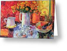 Table Reflections Greeting Card