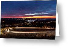 Table Rock Lake Night Shot Greeting Card