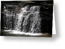 Table Rock South Carolina Water Fall Greeting Card