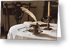 Table Scene Greeting Card