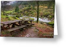 Tables By The River Greeting Card