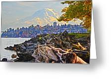 Tacoma In The Fall Greeting Card
