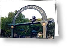 Tadpole Playground Boston Greeting Card