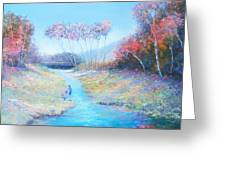 Tadpoling By The River Greeting Card