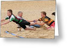Tag Beach Rugby Competition Greeting Card