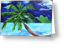 Tahiti Beach Greeting Card