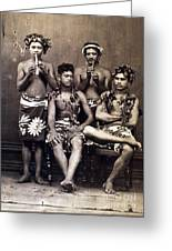 Tahiti: Men, C1890 Greeting Card