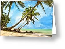 Tahitian Idyll Greeting Card