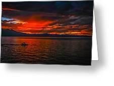 Tahoe Boat Ride Greeting Card