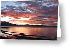 Tahoe June Sunset Greeting Card