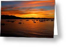 Tahoe Sunset Greeting Card