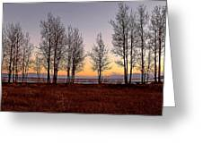 Tahoe Sunset Looking Southwest Greeting Card