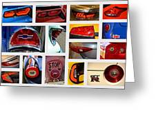 Tail Light Collage Number 1 Greeting Card