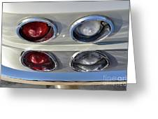 Tail Lights Of A 1966 Chevrolet Corvette Sting Ray 427 Turbo-jet Greeting Card