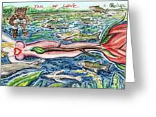 Tail Of Love Greeting Card