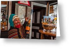 Taimi In Zermatt Switzerland Greeting Card