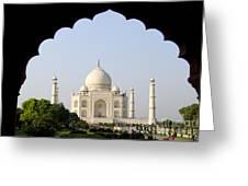 Taj Mahal At Sunrise Greeting Card