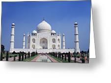 Taj Mahal Landscape Greeting Card