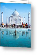 Taj Mahal  Greeting Card by Nila Newsom
