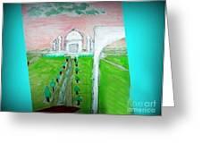 Taj Mahal Noon Greeting Card